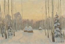 На зимней поляне.  1997г.