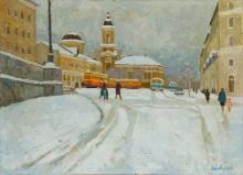 Зимняя Тверь.Церковь Вознесения.1960г