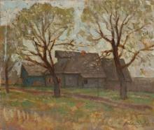 Весна в деревне. 1981г